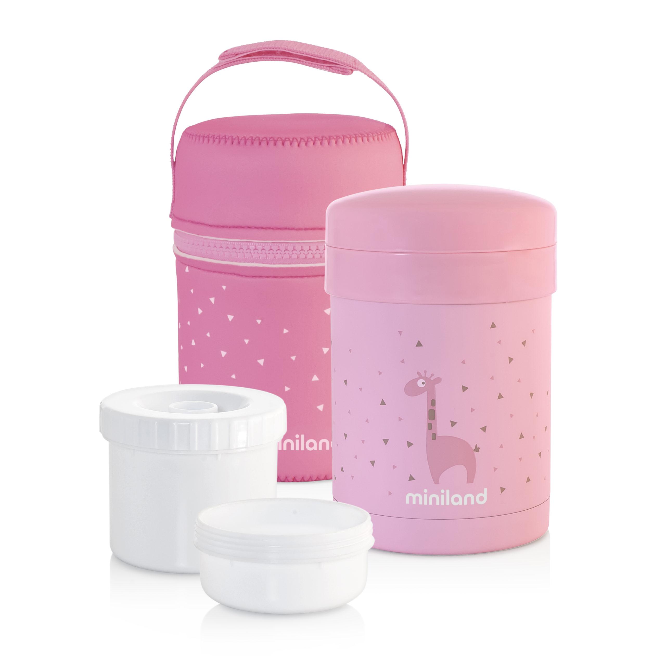 thermos per pappa solida thermetic pink di miniland